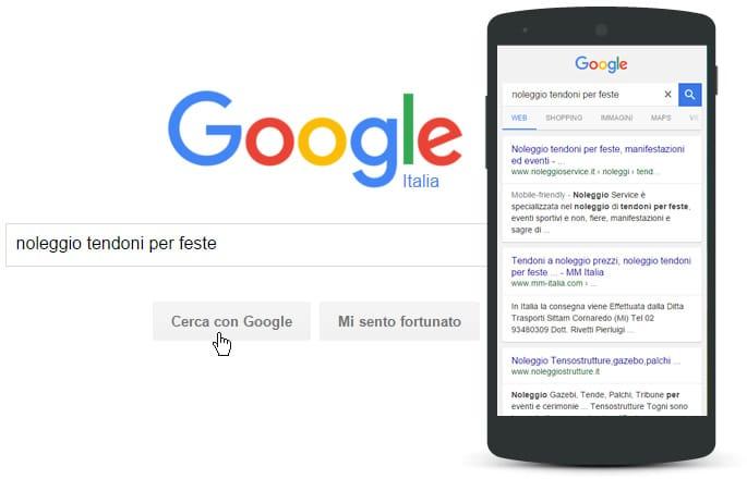 Posizionamento di un sito web su Google