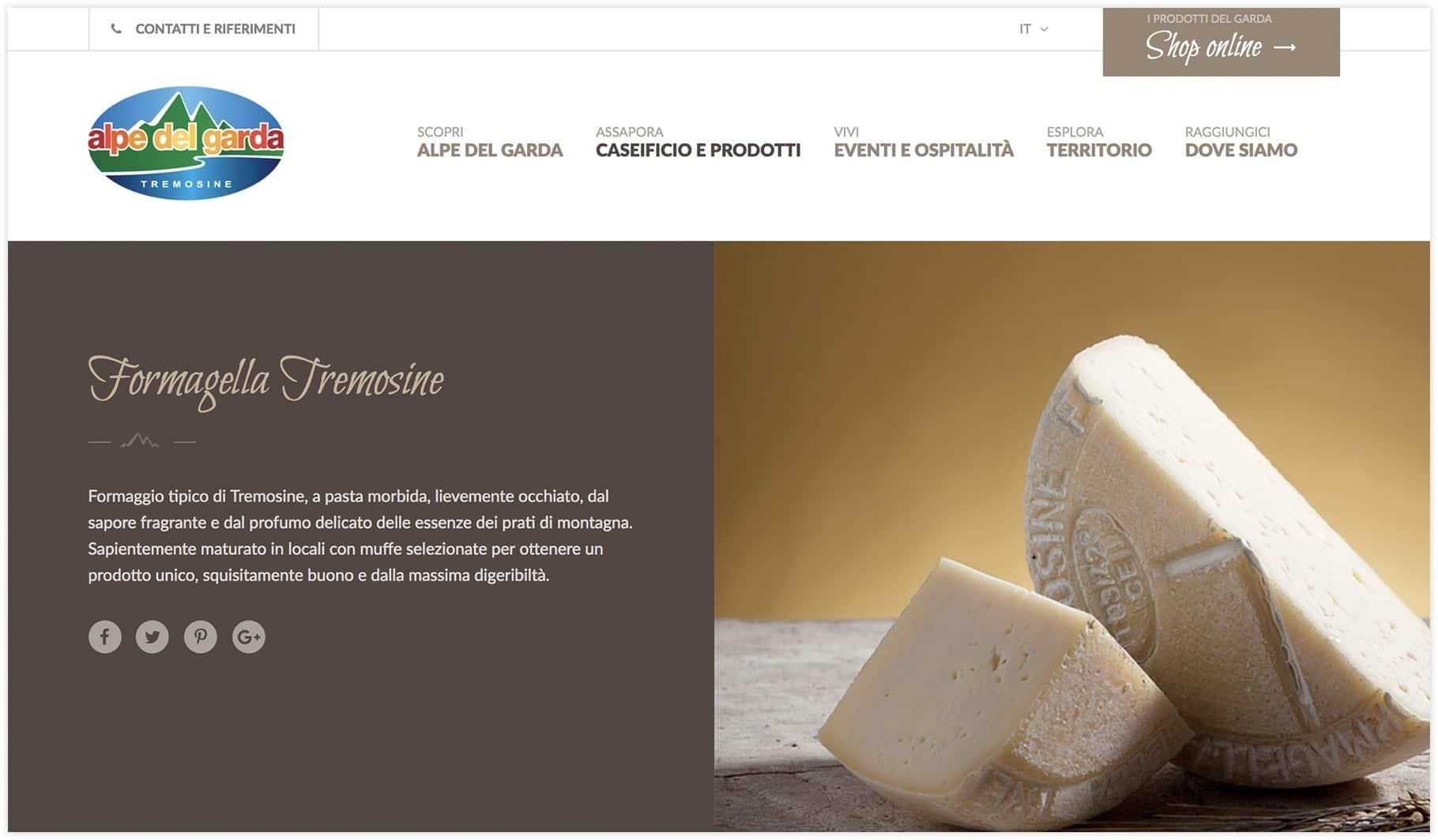Sito web Alpe del Garda - Tremosine (Brescia)