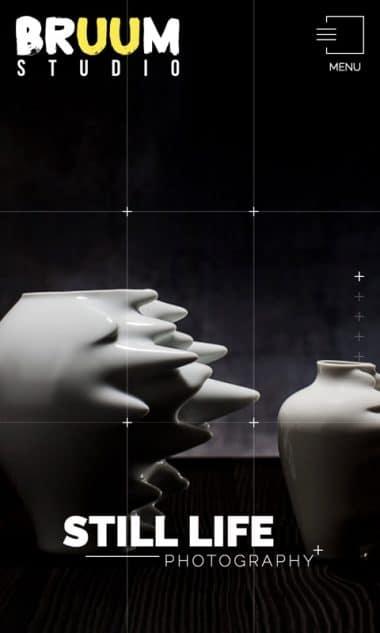 Versione responsive del sito internet Bruum Studio