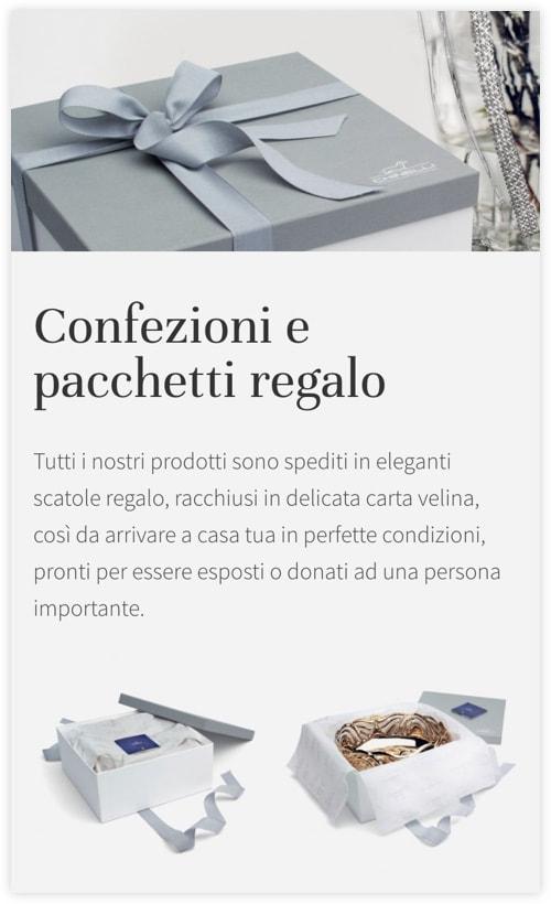 Versione responsive sito web Chinelli
