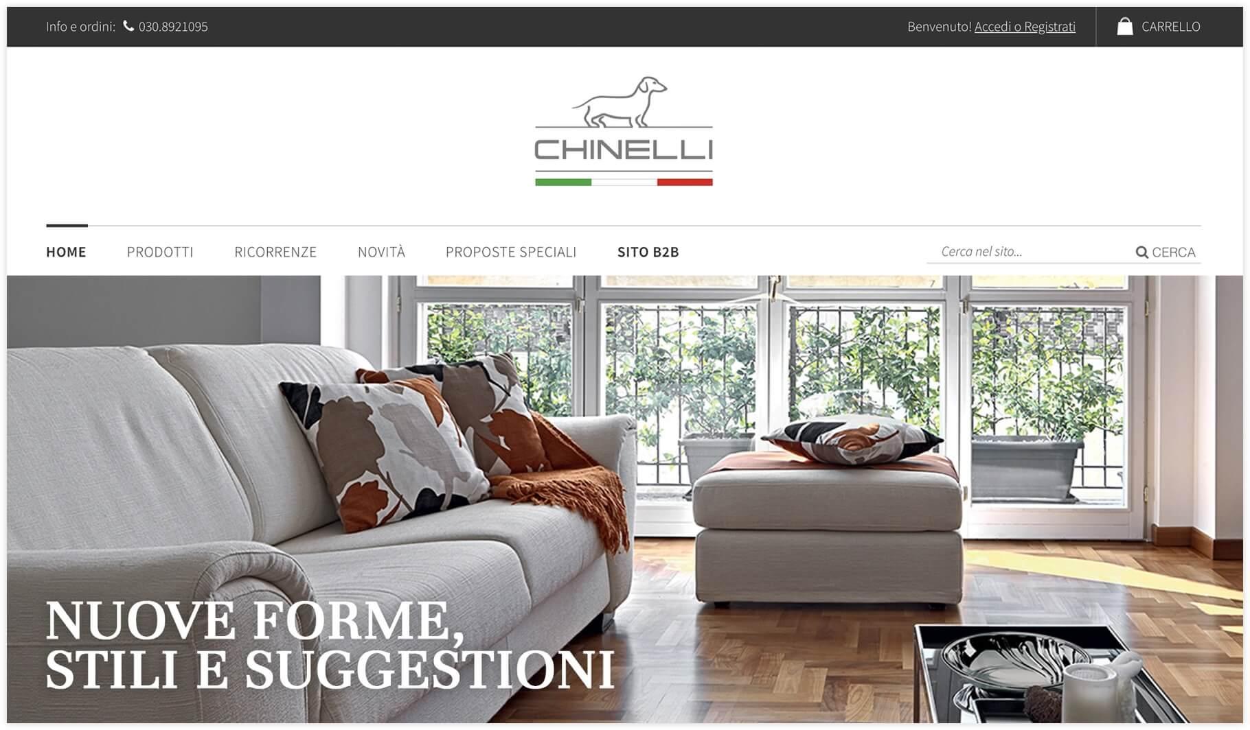 Sito e-commerce Chinelli - Lumezzane (Brescia)