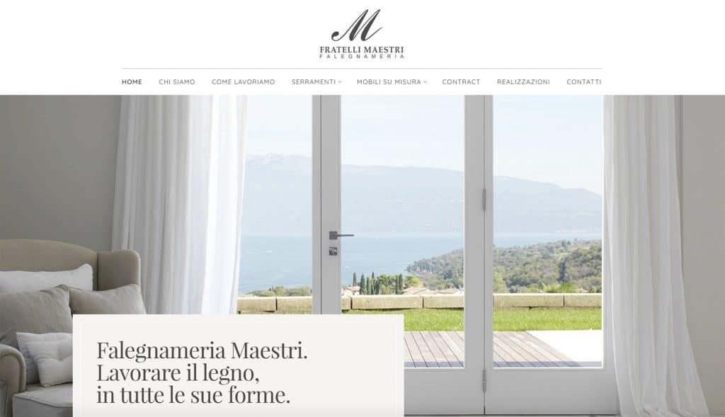 Sito web Falegnameria Maestri - Brescia