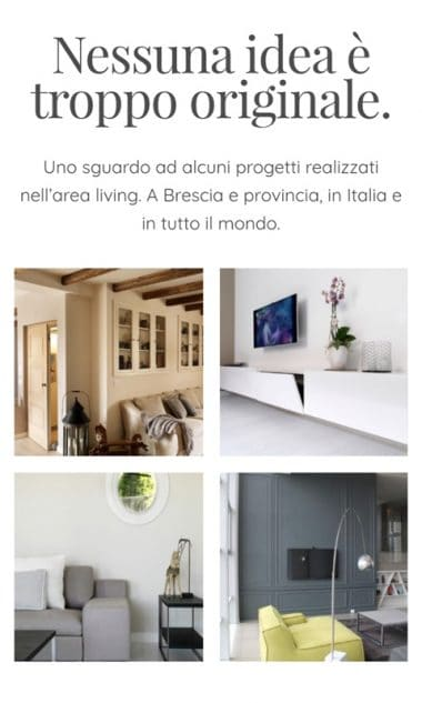 Versione responsive sito internet Falegnameria Maestri