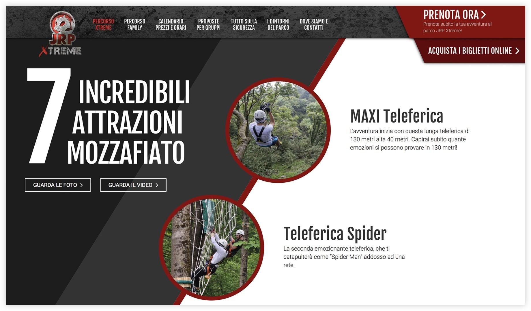 Sito web JRP Xtreme - Como