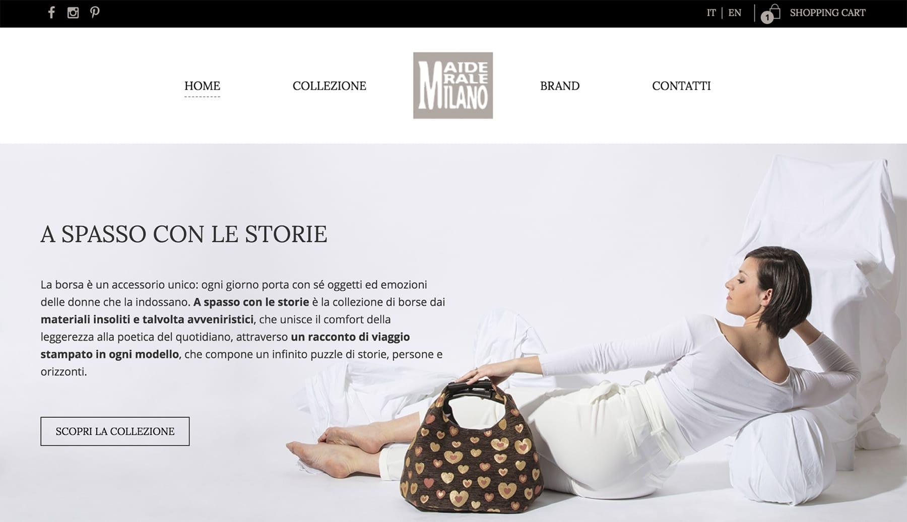 Sito e-commerce MariadeleMilano - Milano