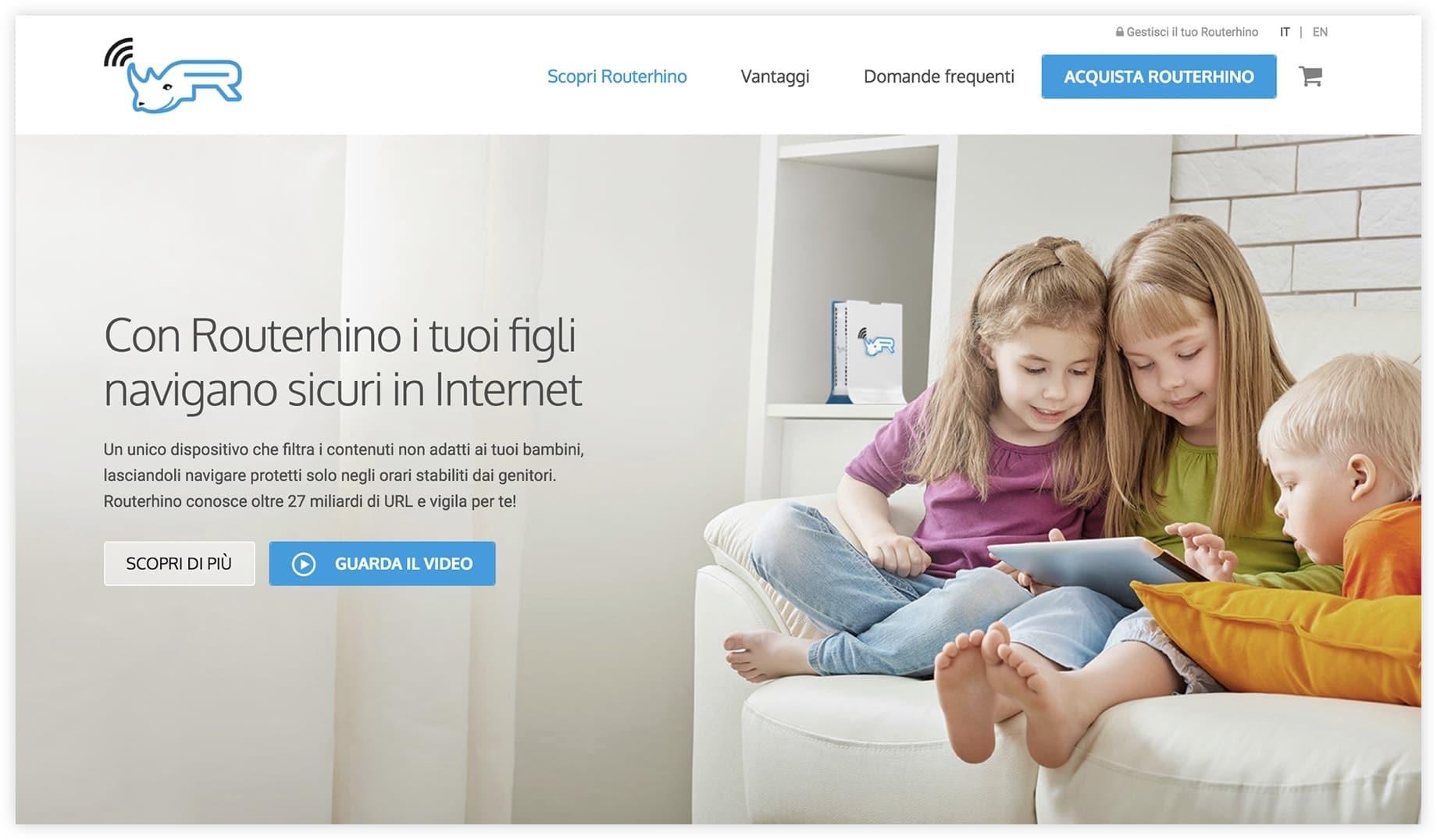 Sito web Routerhino - Brescia