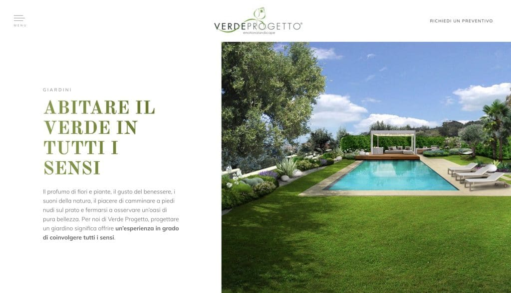 Sito web Verde Progetto - Brescia