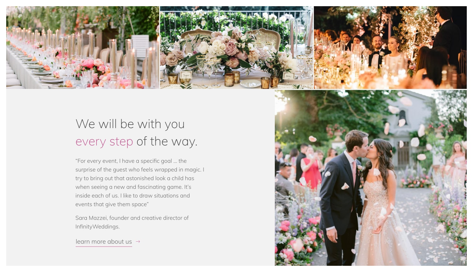 Sito web Infinity Weddings