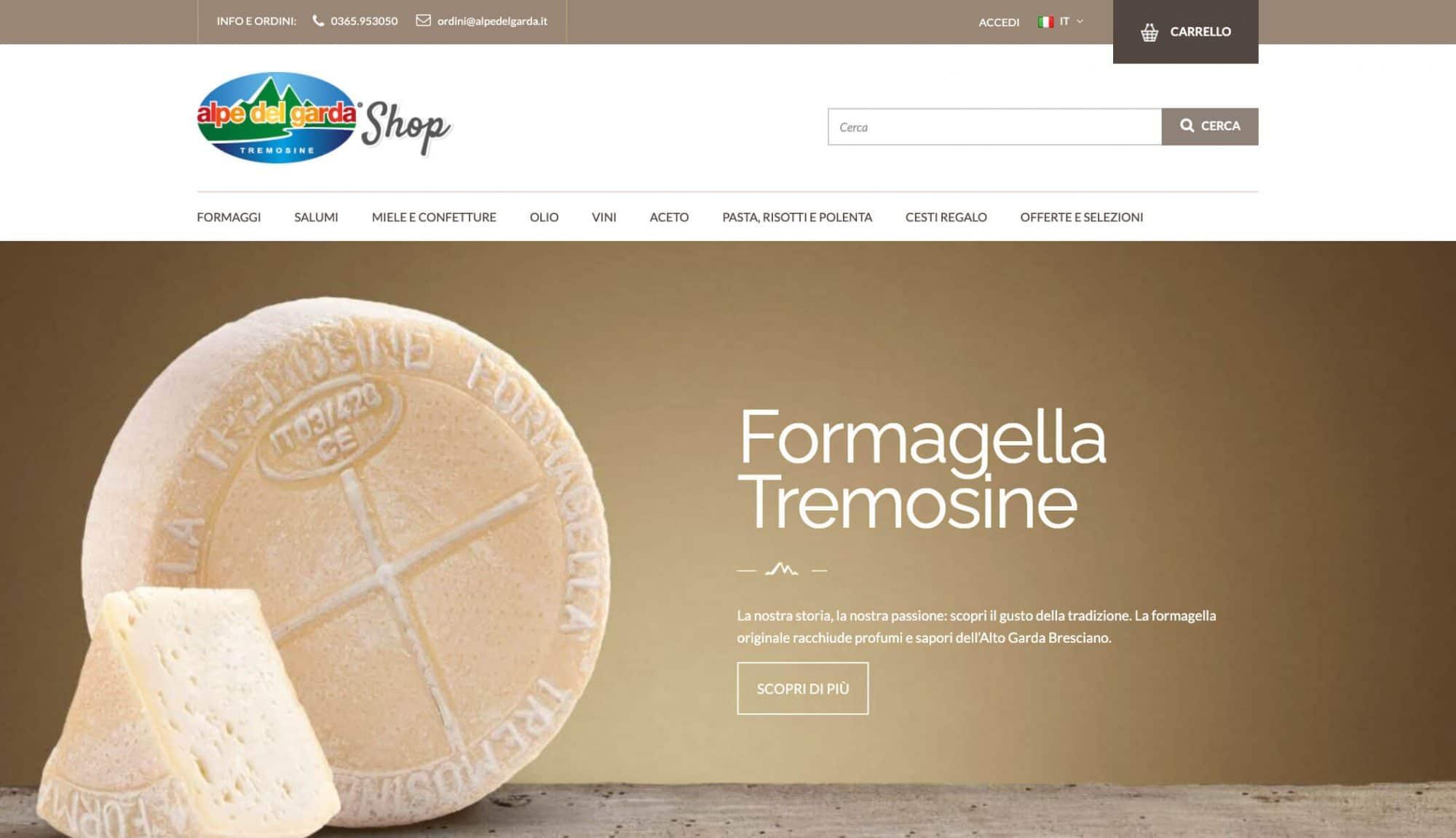 Sito e-commerce Alpe del Garda (Brescia)
