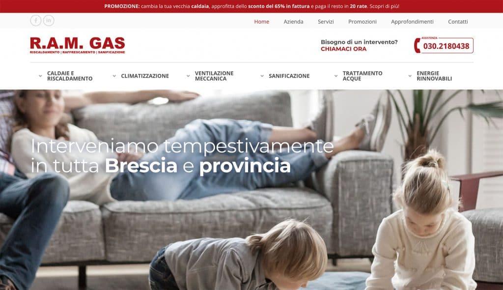 Sito web RAM Gas - Rovato (Brescia)