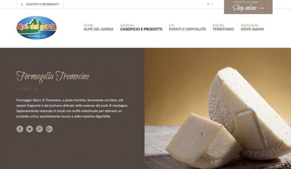 Sito web Alpe del Garda - Tremosine - Brescia